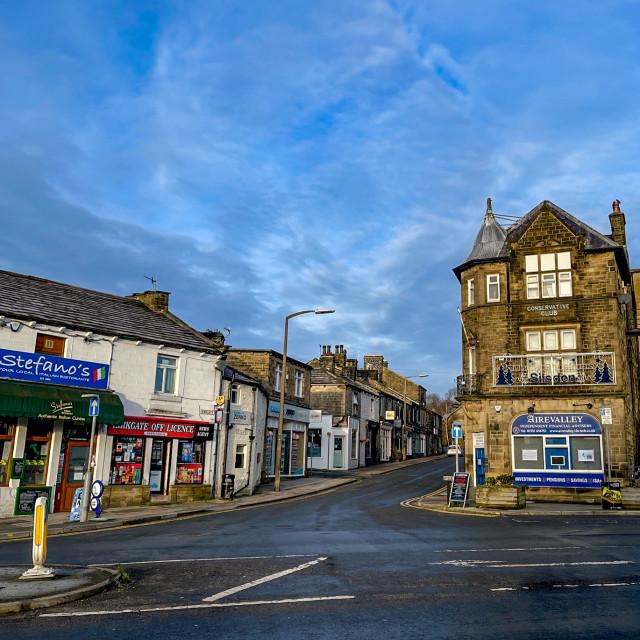 """Briggate, Silsden (Cobbydale) Yorkshire, England."" stock image"
