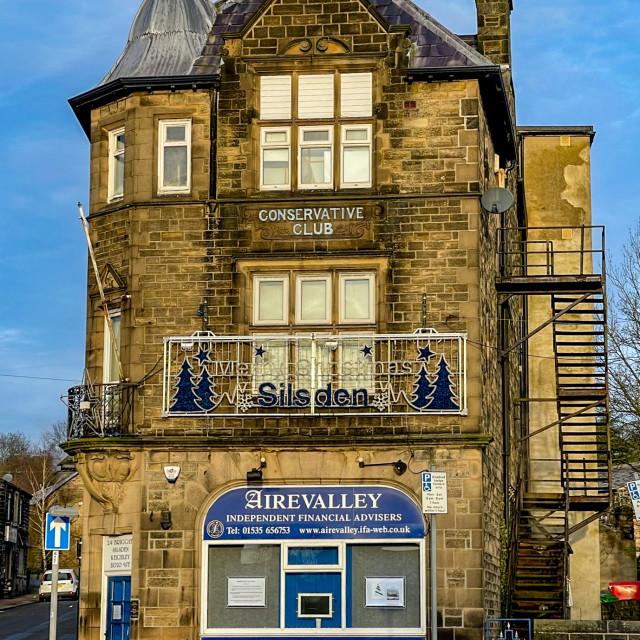 """""""Silsden Conservative Club, Briggate, Silsden (Cobbydale) Yorkshire, England."""" stock image"""