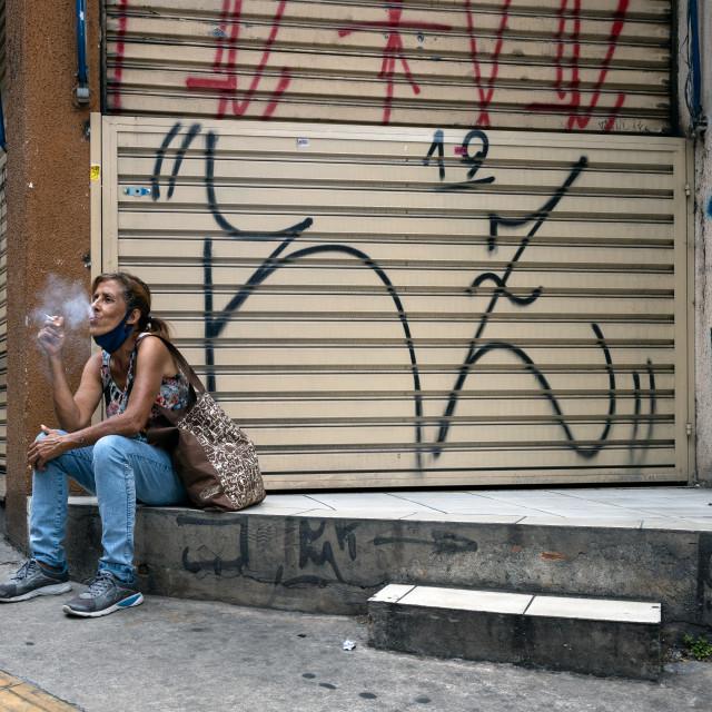 """Streets os Sao Paulo, Brazil"" stock image"