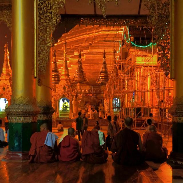 """""""Shwedagon Pagoda, Yangon"""" stock image"""