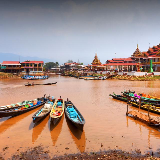 """""""Phaung Daw Oo Pagoda, Myanmar"""" stock image"""