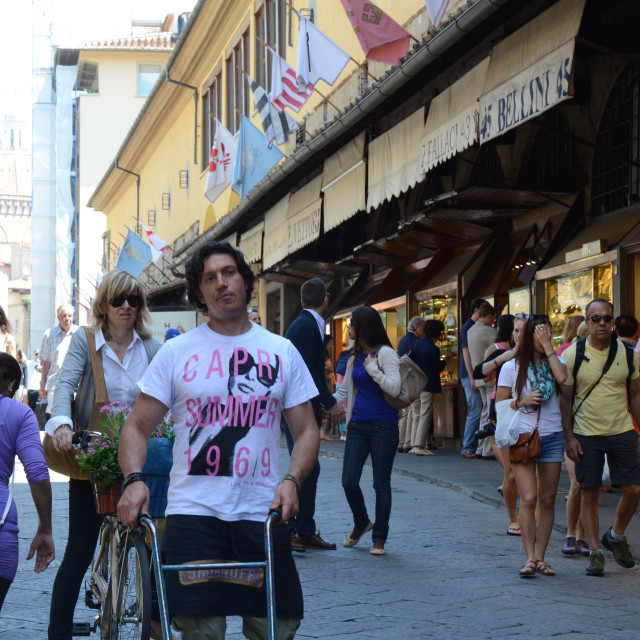 """""""Tourists in Florence, Italy"""" stock image"""