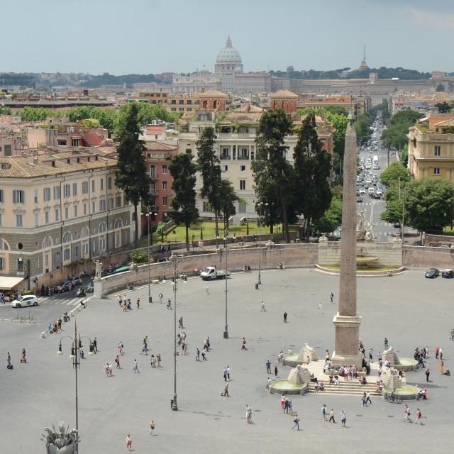 """""""Piazza del Popolo, Rome, Italy"""" stock image"""