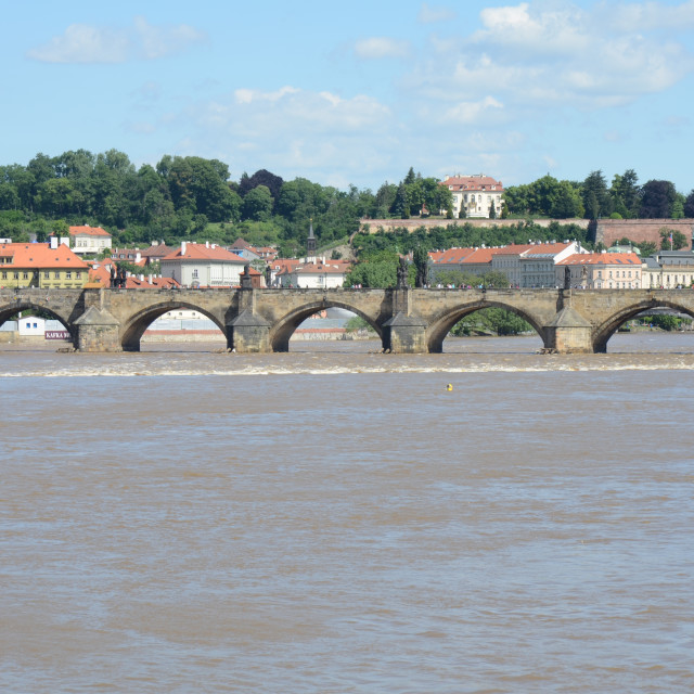 """Vltava River in Prague, Czechia"" stock image"