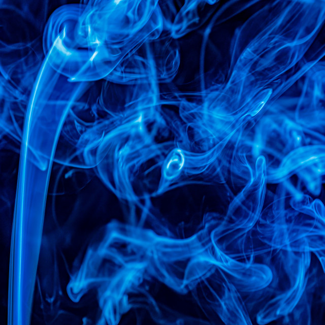"""Blue smoke"" stock image"