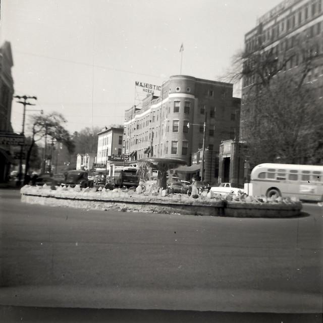 """Majestic Hotel - Hot Springs Arkansas 1930-40"" stock image"