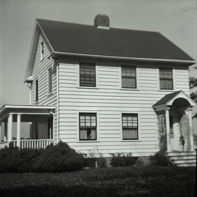 """""""old house, unknown location 1930-1940"""" stock image"""