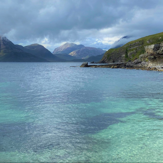"""Elgol Beach, Isle of Skye"" stock image"