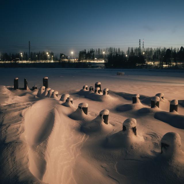 """Hidden Under Snow VII (Poles)"" stock image"