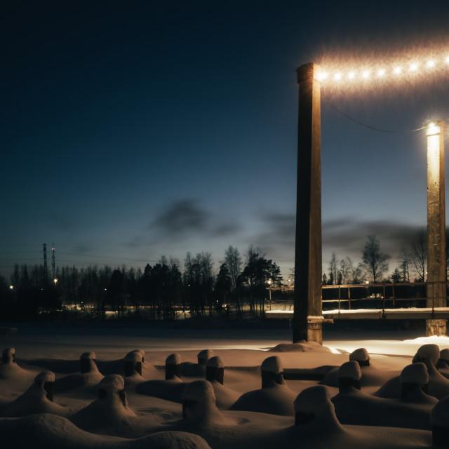 """Hidden Under Snow X (Columns)"" stock image"