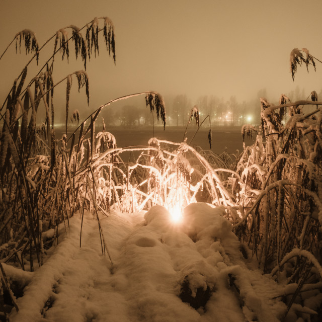 """""""Fire And Snow IV"""" stock image"""
