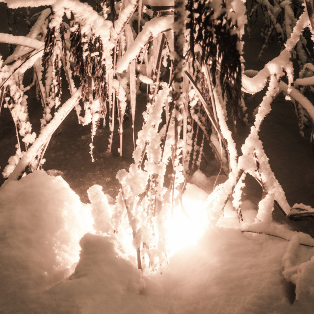 """""""Fire And Snow V"""" stock image"""
