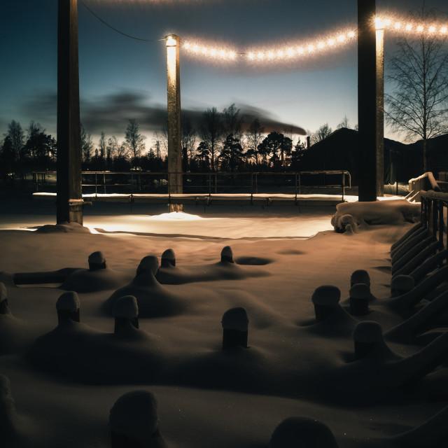 """Hidden Under Snow XIV (Light Chain)"" stock image"