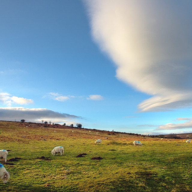 """""""Lenticular cloud - Hayne Down"""" stock image"""