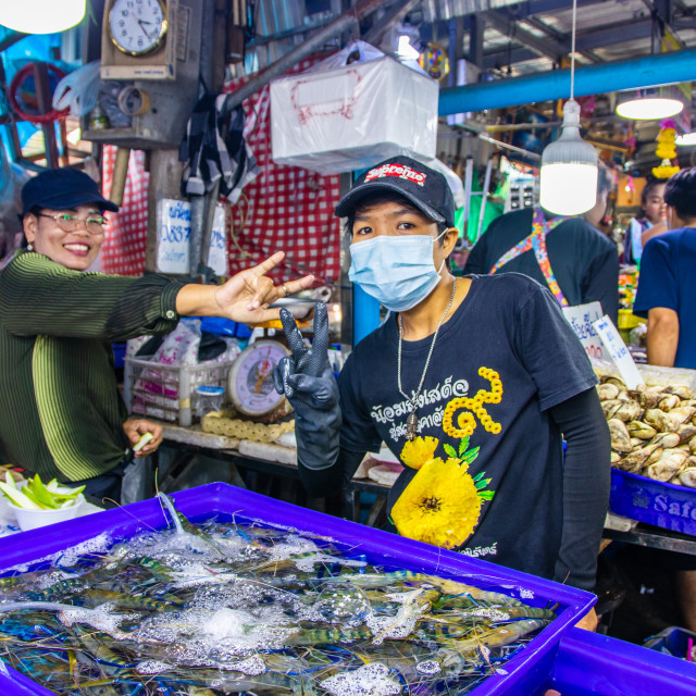 """""""Seafood Market in Thailand"""" stock image"""