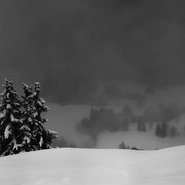 """Landscape Photography-Mountain Wall Art Print-Black And White Photo Art-Mountain Photo Print-Minimalist Wall Decor-Printable Photo"" stock image"
