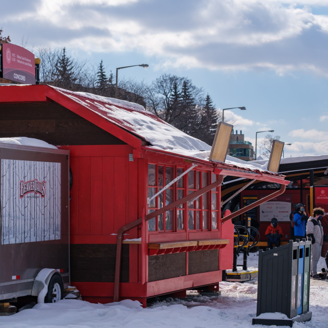 """""""Rideau Canal BeaverTails stand closed for lockdown"""" stock image"""
