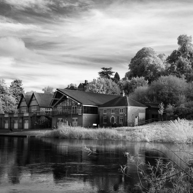 """The Boathouse, Shrewsbury School"" stock image"
