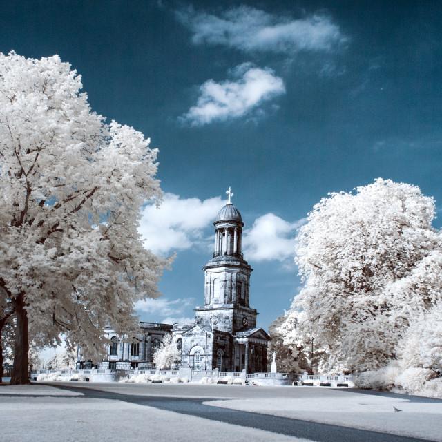 """""""St Chads, Shrewsbury."""" stock image"""
