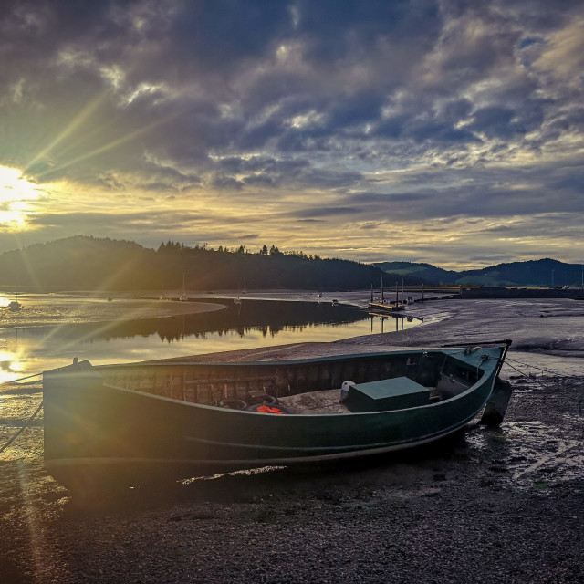"""Autumnal sunset"" stock image"