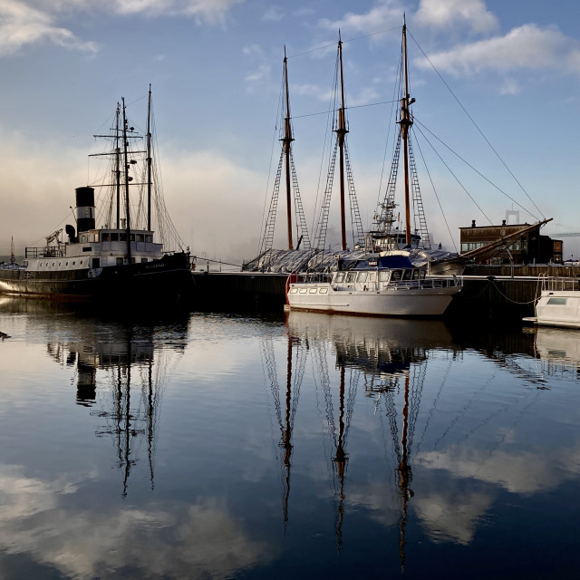 """""""Boats of Gothenburg"""" stock image"""
