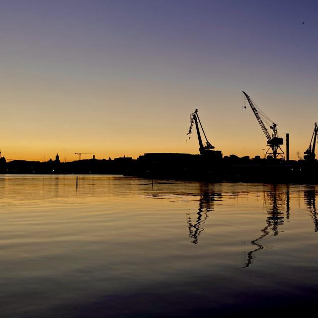 """Classic Gothenburg silhuett"" stock image"