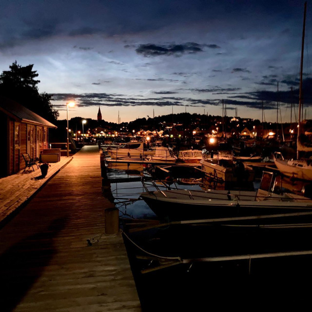 """summer night over grebbestad"" stock image"