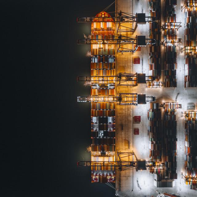 """""""Cosco Piraeus"""" stock image"""