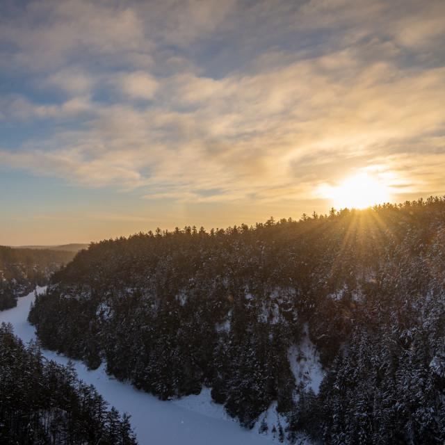 """""""Barron Canyon Sunrise - 2"""" stock image"""