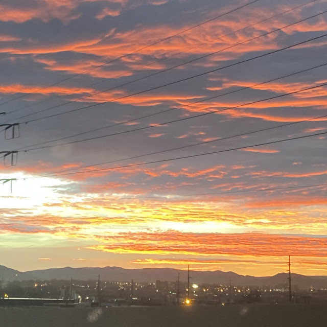 """Albuquerque New Mexico sunset"" stock image"