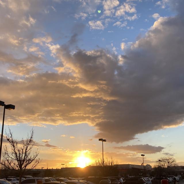 """""""Albuquerque sunset"""" stock image"""