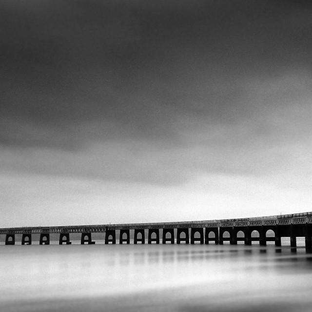 """Dundee Rail Bridge."" stock image"