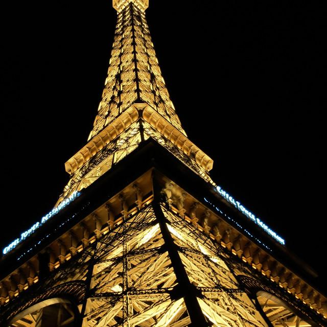 """""""Hotel Paris, Las Vegas strip"""" stock image"""