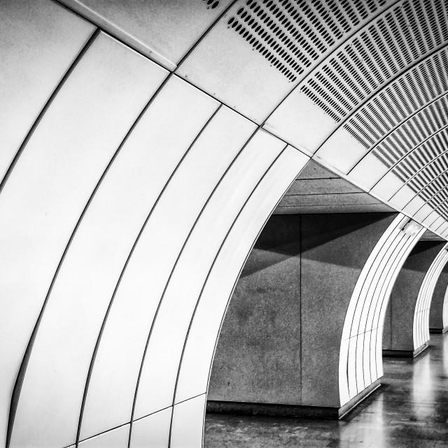 """Vienna Metro/Subway tunnel"" stock image"