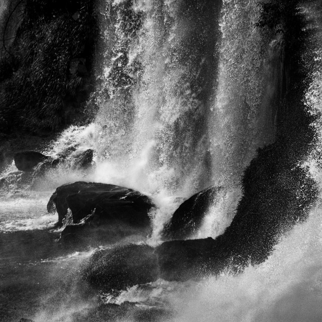 """Water Power - Iguazu Falls"" stock image"