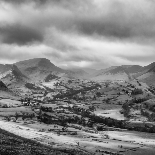 """""""View from Cat Bells, Lake District National Park."""" stock image"""