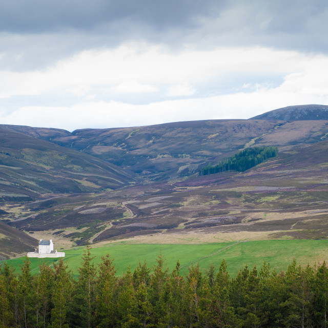 """""""Road into the Cairngorms, Aberdeenshire"""" stock image"""
