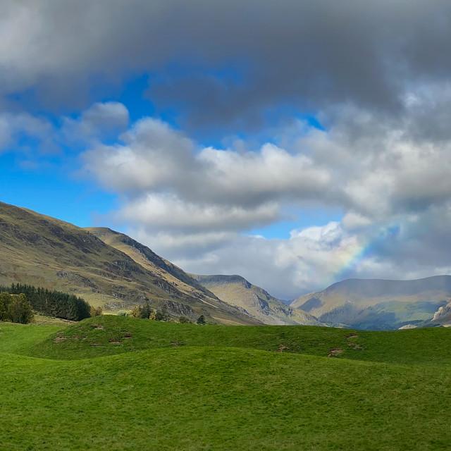 """Approach road to Glen Clova, Scotland"" stock image"