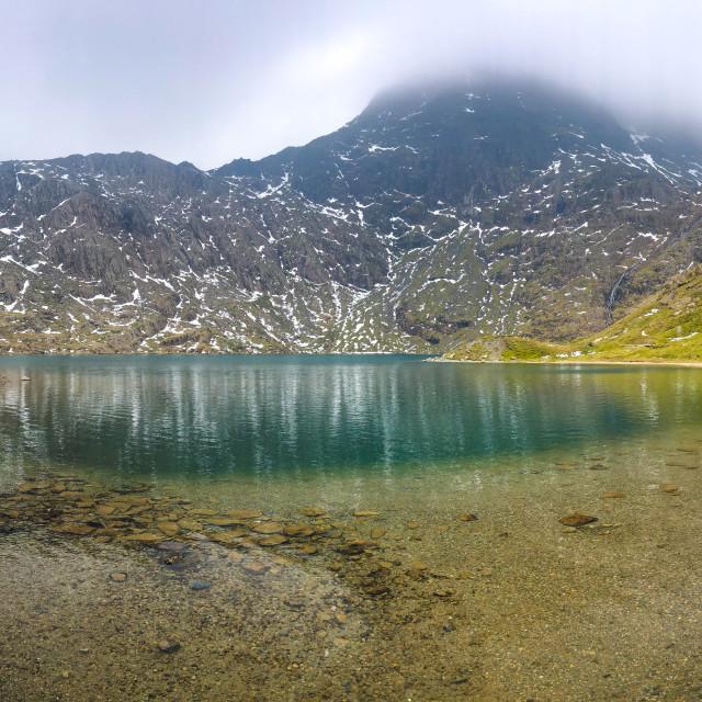"""""""Lake on Mount Snowdon"""" stock image"""