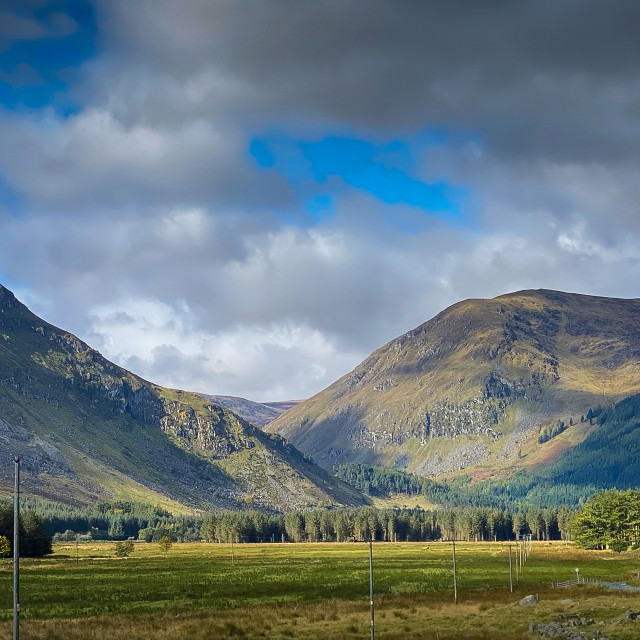 """""""Approach road to Glen Doll, Scotland"""" stock image"""