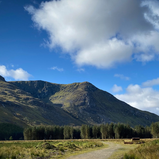 """""""Approach to Glen Doll, Scotland"""" stock image"""