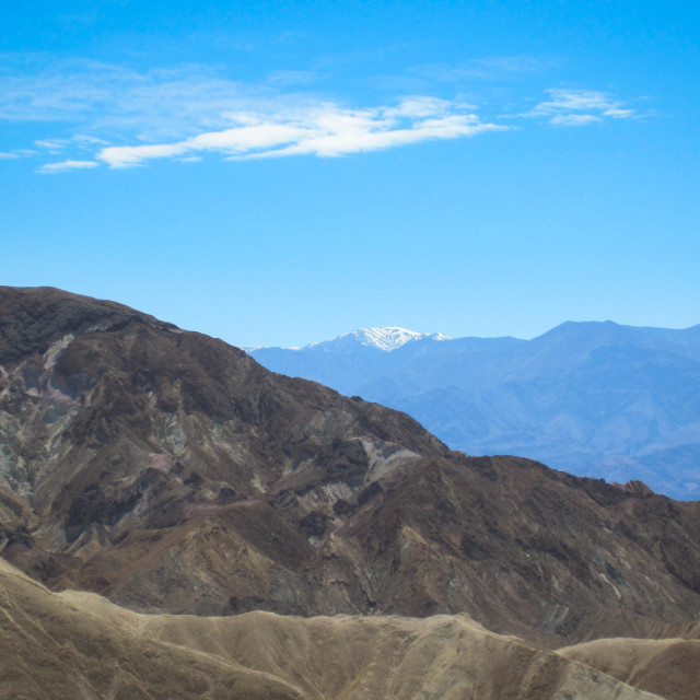 """""""Mountains and Death Valley, North Mojave Desert, USA"""" stock image"""