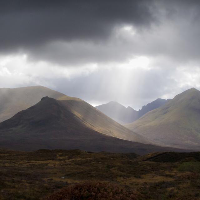 """The Cuillins Mountain Range, Isle of Skye."" stock image"