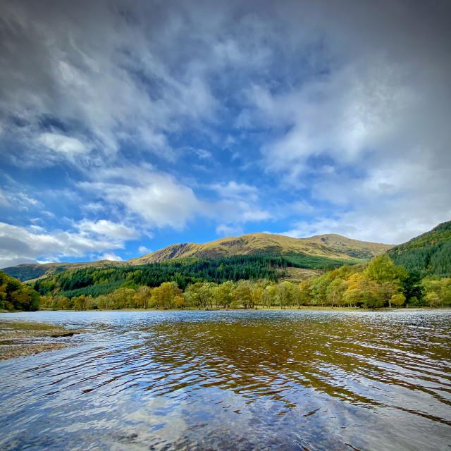 """Loch Lubnaig near Callander, Scotland."" stock image"
