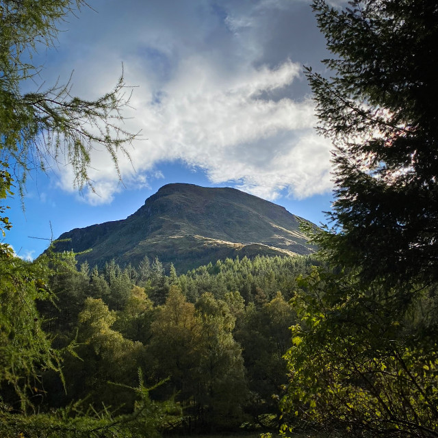 """Glen Doll hills, Scotland"" stock image"