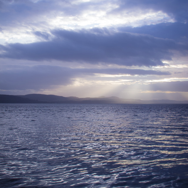 """""""Sunset over the Firth of Tay, Dundee"""" stock image"""