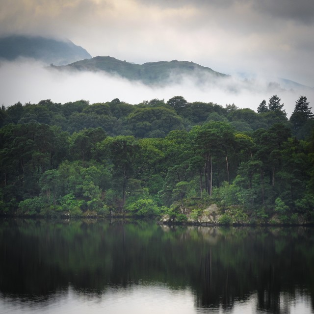 """""""View across Windermere Lake, Lake District, England"""" stock image"""