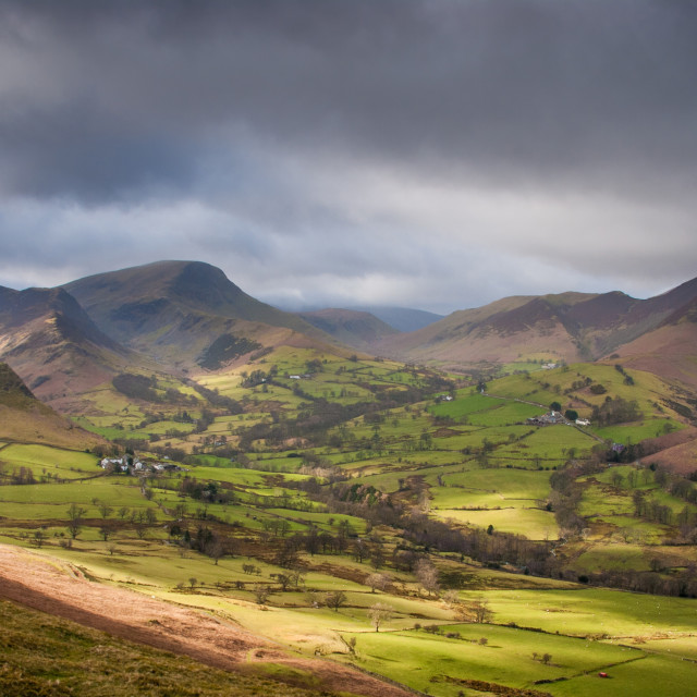 """""""View from Cat Bells, Lake District, UK"""" stock image"""
