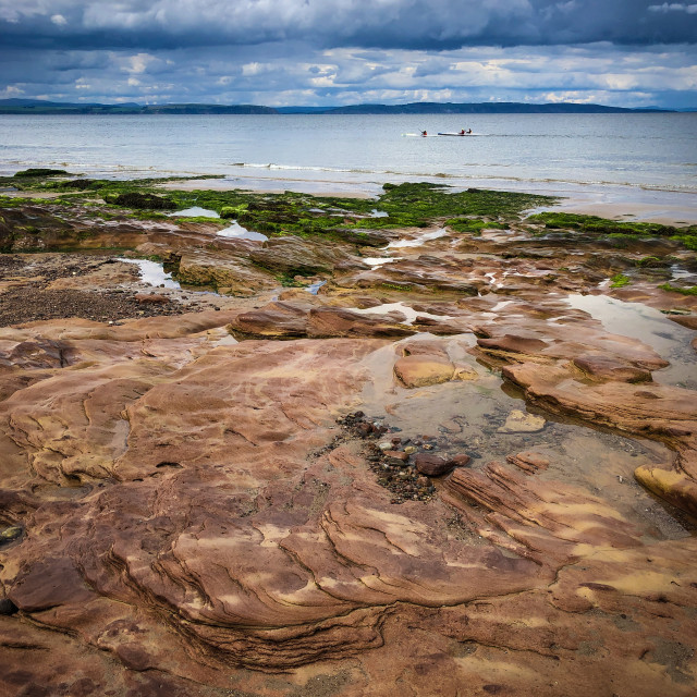 """""""Kayaking in the Moray Firth"""" stock image"""
