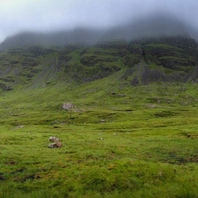 """Bealach na Bà pass, Scotland"" stock image"